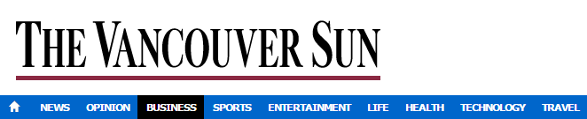 MEDA-2014-10-30 Vancouver Sun-TSX lower amid falling gold prices, heavy slate of earnings(header)