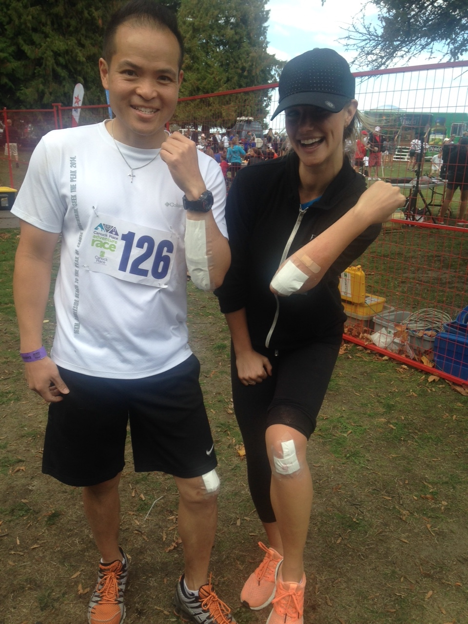 2015-09 NWM Gives Back - 2015 Canuck Place Adventure Race - Rich-V Matching Bandages image