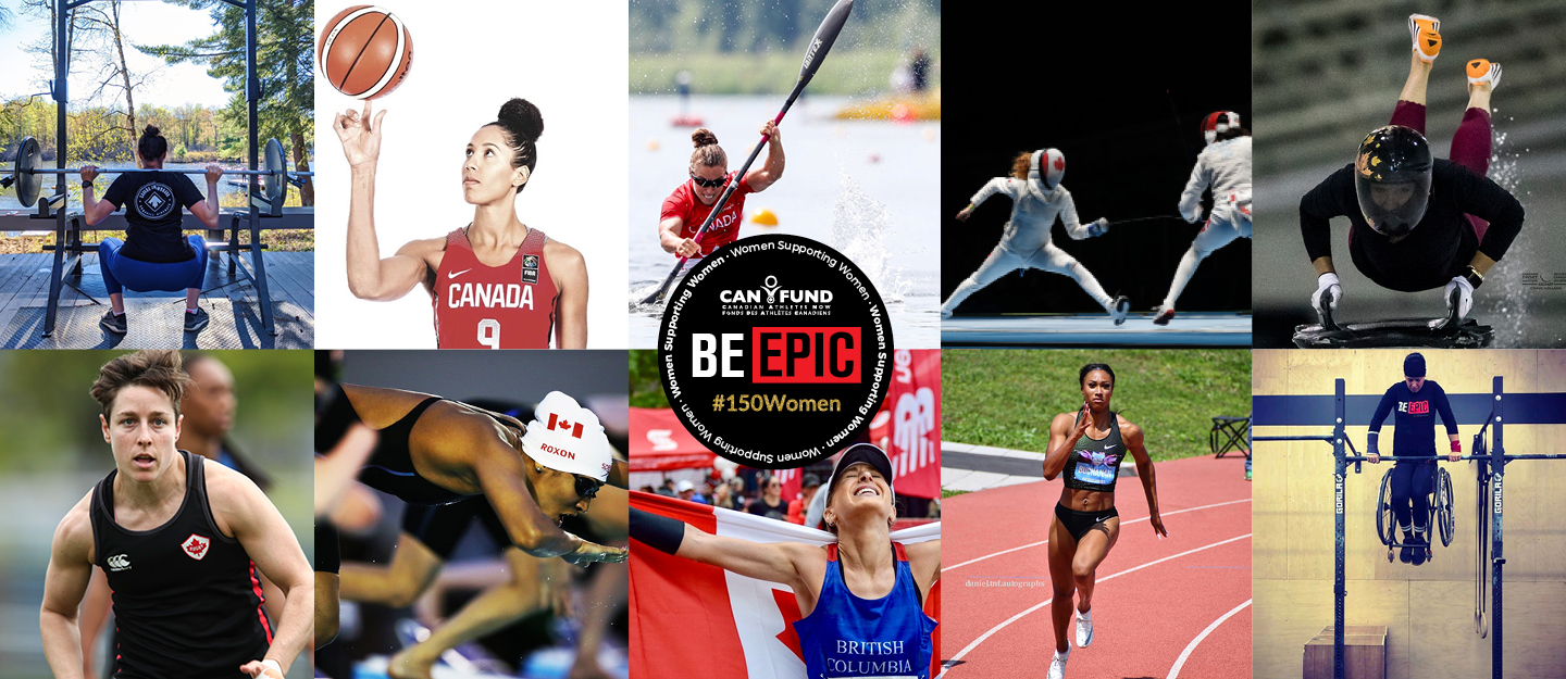 Professional Female Athlete Representing Each of Their Sports in a Banner