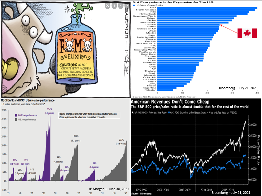 Image illustrating that investors often buy stocks due to fear of missing out in a boom.